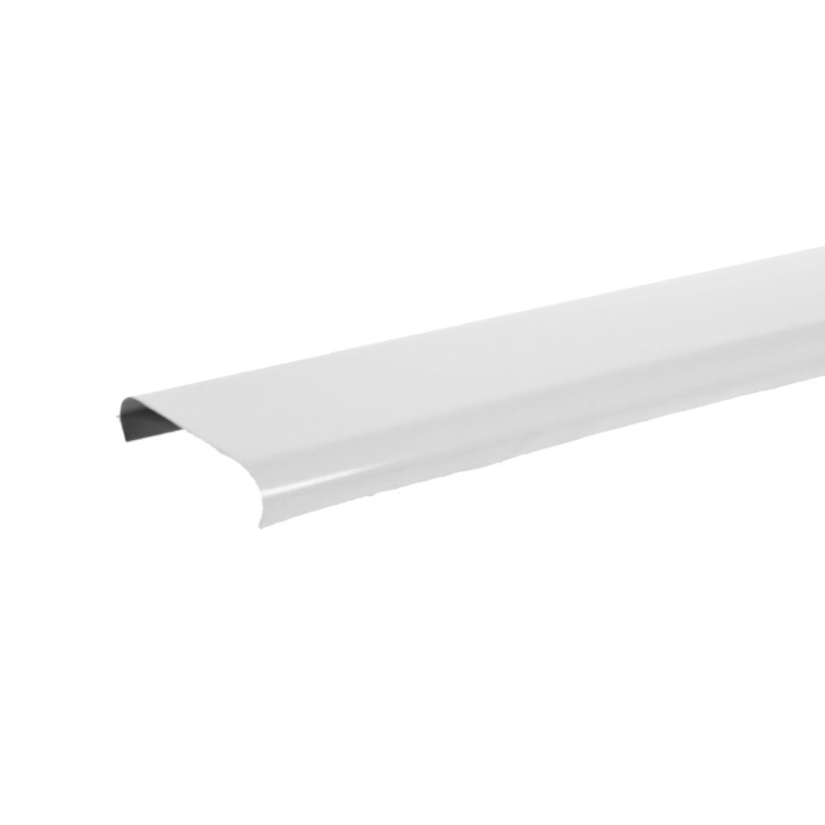 Набор реек 2х1 м цвет белый глянцевый без раскладки