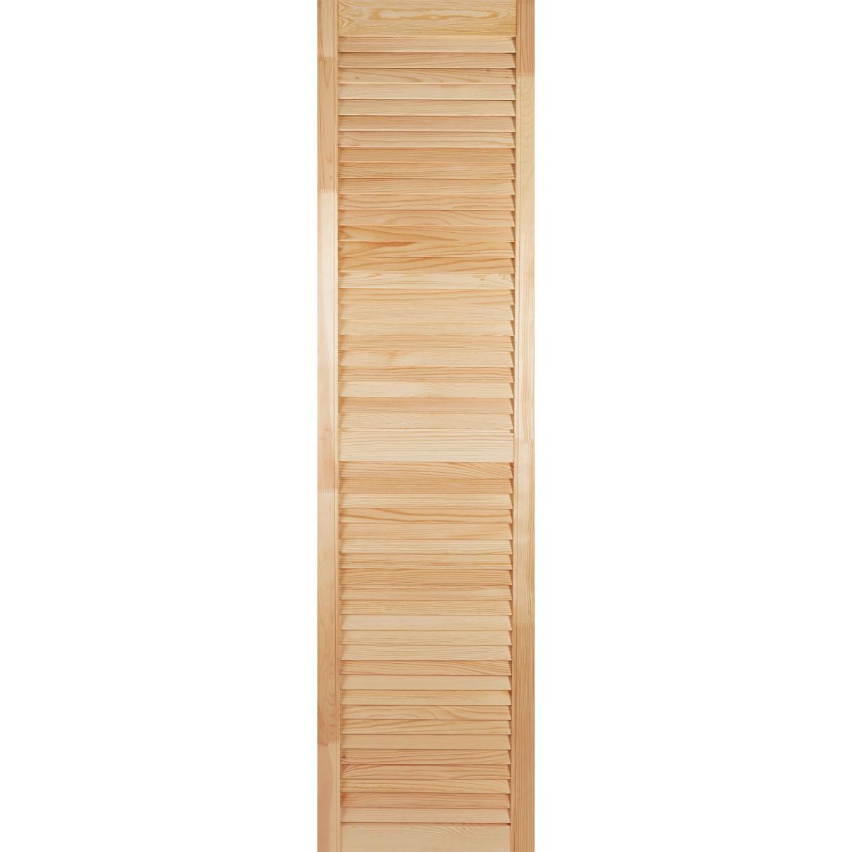 Дверка жалюзийная 1505х394х20 мм хвоя сорт А/В