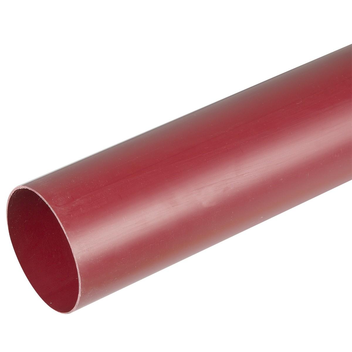 Труба водосточная Murol 80x3000 мм цвет красный