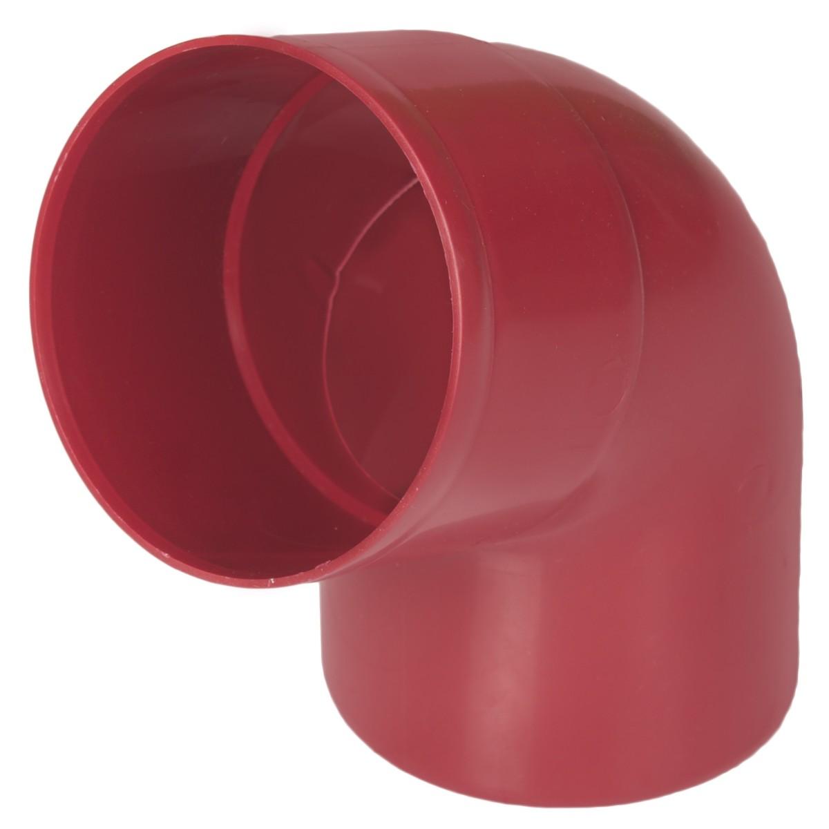 Отвод на 67° для трубы MUROL 80 мм цвет красный