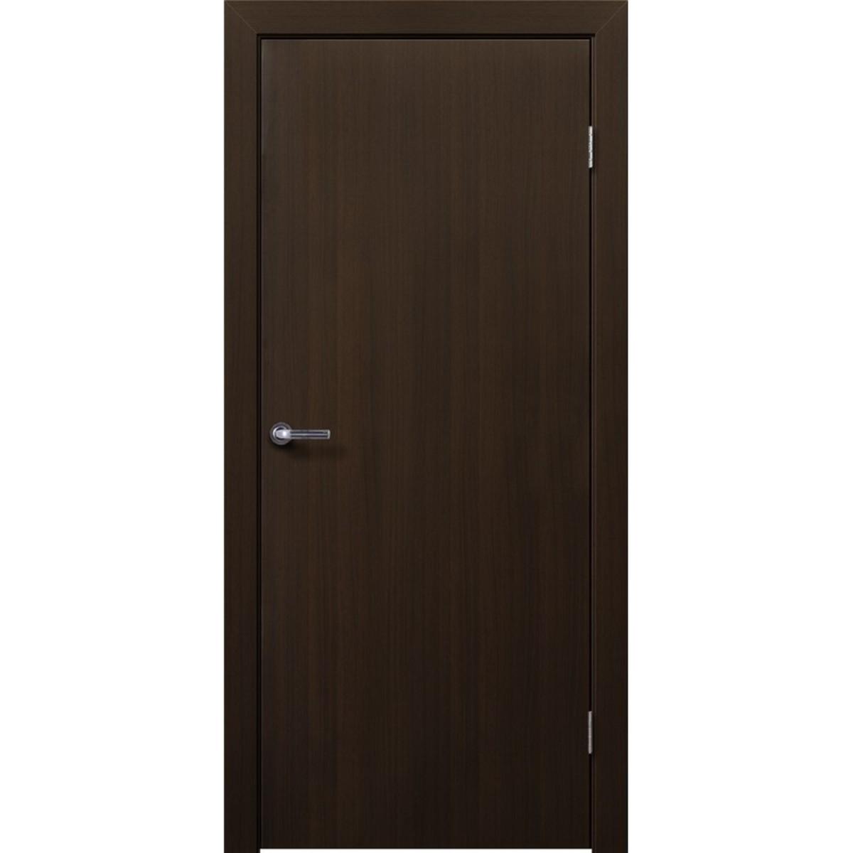 Дверь межкомнатная глухая 70x200 см ламинация цвет венге