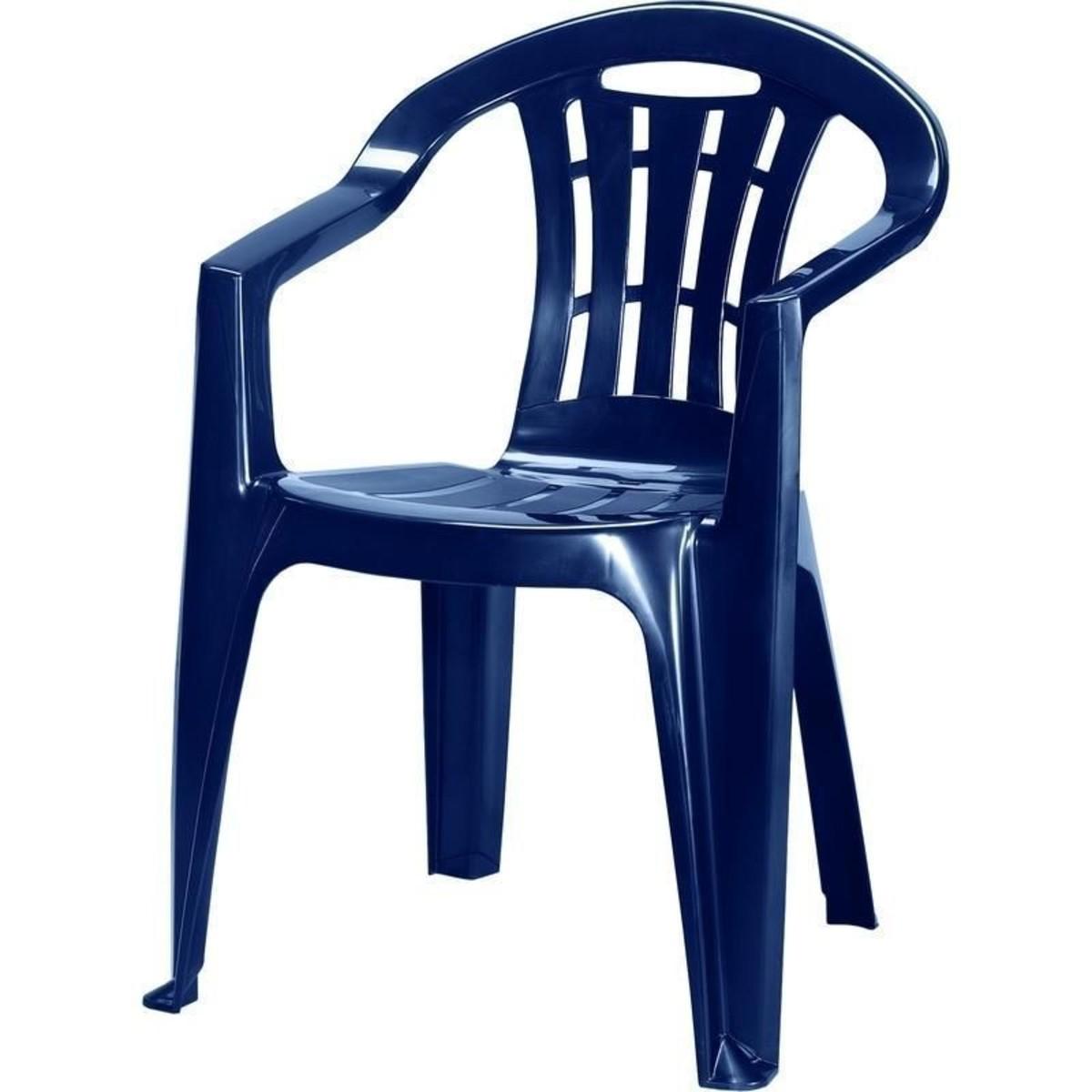 Кресло садовое Майорка синее 560x790x580 мм пластик