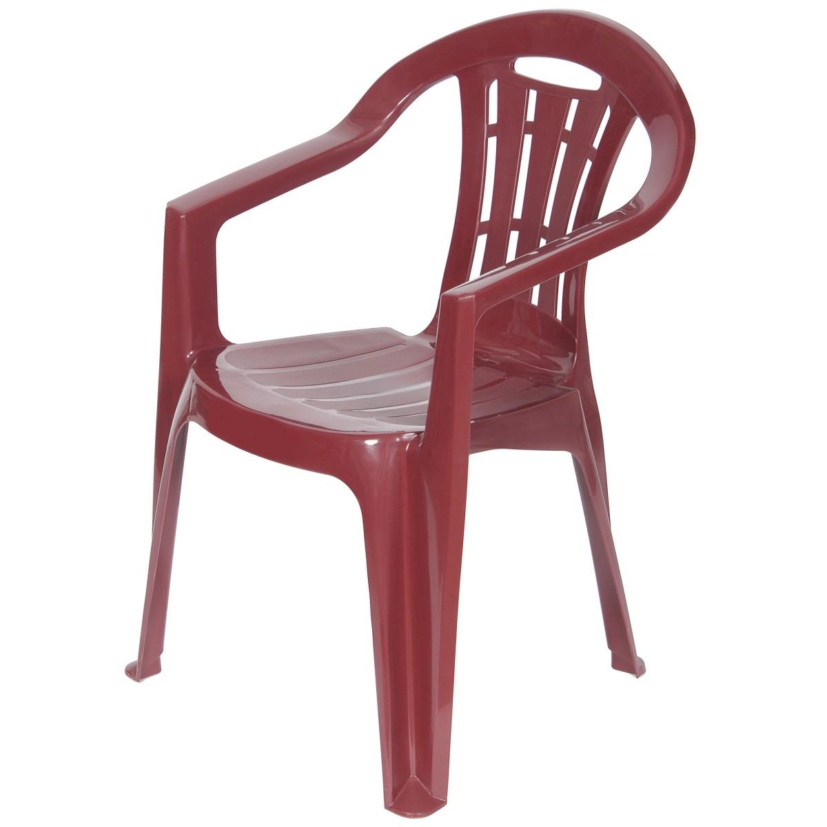 Кресло садовое Майорка 560x790x580 мм пластик цвет бордо