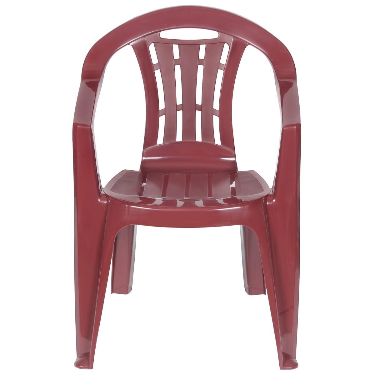 Кресло Садовое Майорка 560x790x580 Пластик Цвет Бордо