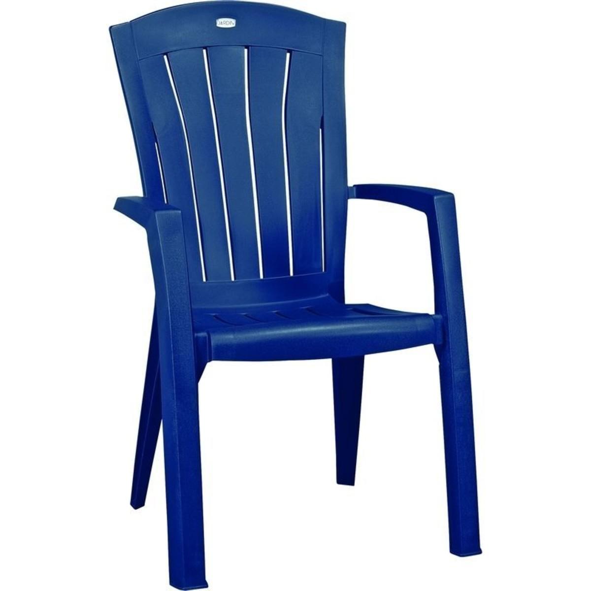 Кресло Садовое Санторини Синее 610x990x650 Пластик