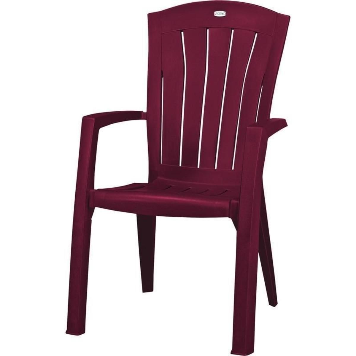 Кресло садовое Санторини бордовое 610x990x650 мм пластик