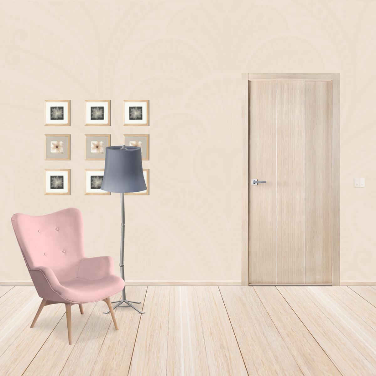 Дверь Межкомнатная Глухая Спэйс 60x200 Ламинация Цвет Шамбор С Фурнитурой