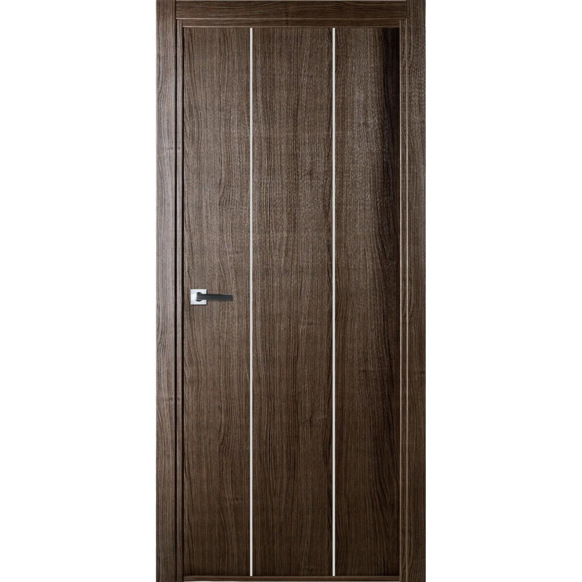 Дверь Межкомнатная Глухая Спэйс 80x200 Ламинация Цвет Серый Дуб С Фурнитурой