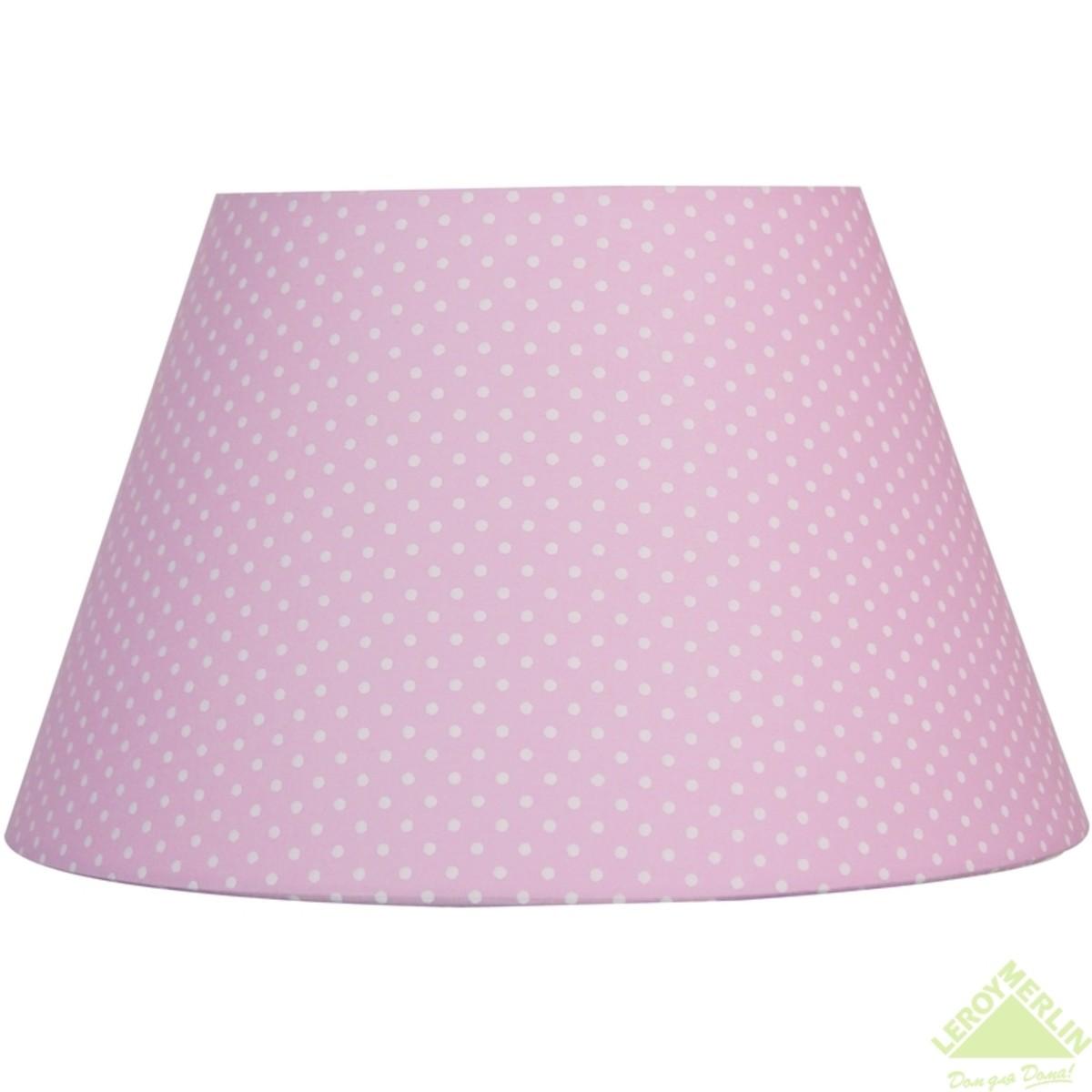 Абажур Pink with white dots средний 1xE14
