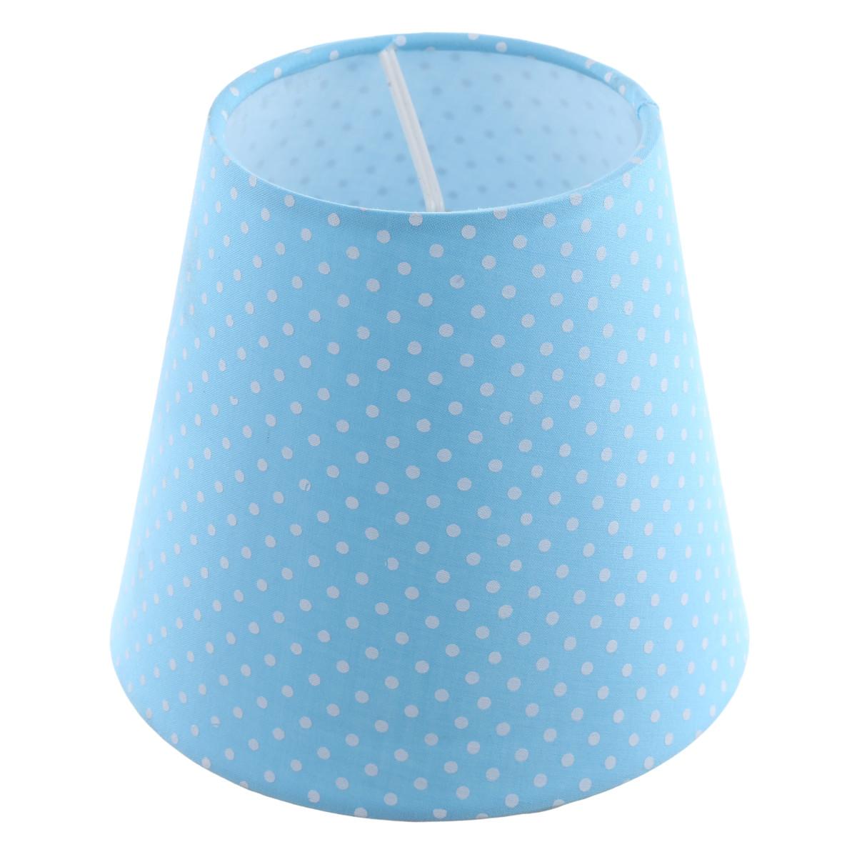 Абажур Blue with white dots малый 1xE14 цвет голубой