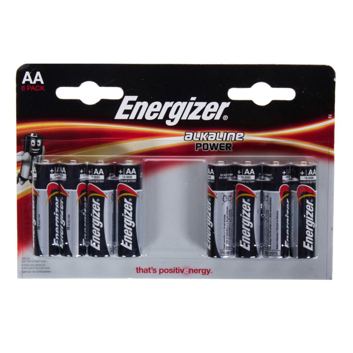 Батарейка алкалиновая Energizer Standart AA 8 шт.