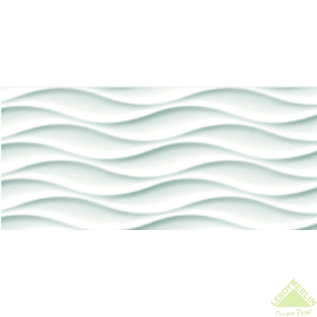 Плитка настенная Wave (WAG051) цвет белый 20x44 см 105 м2