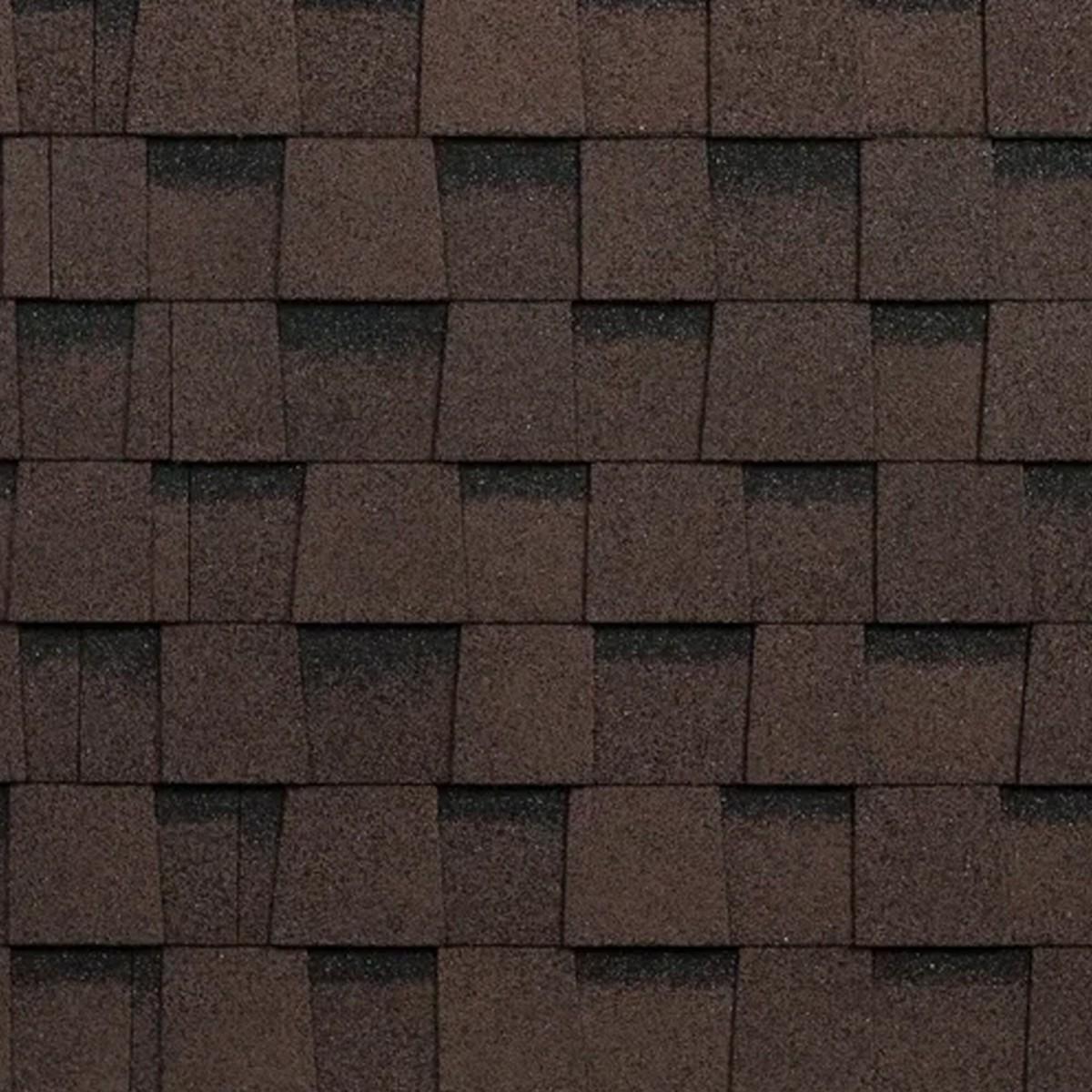 Черепица гибкая Mida Квадро коричневый 2 м²