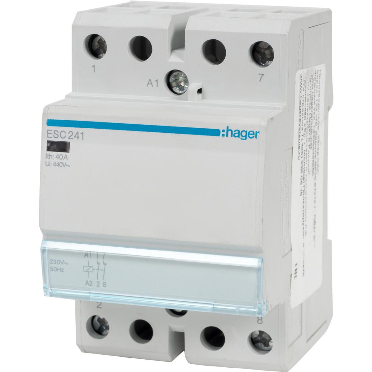 Контактор Hager 40 A 230 В