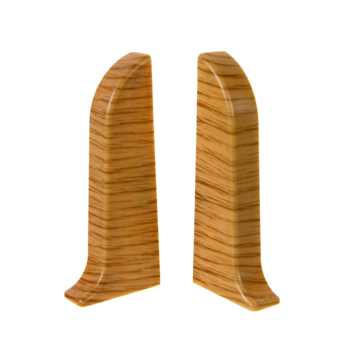 Заглушка для плинтуса левая и правая BOLES В017 Дуб Темноцветный 58 мм 2 шт.