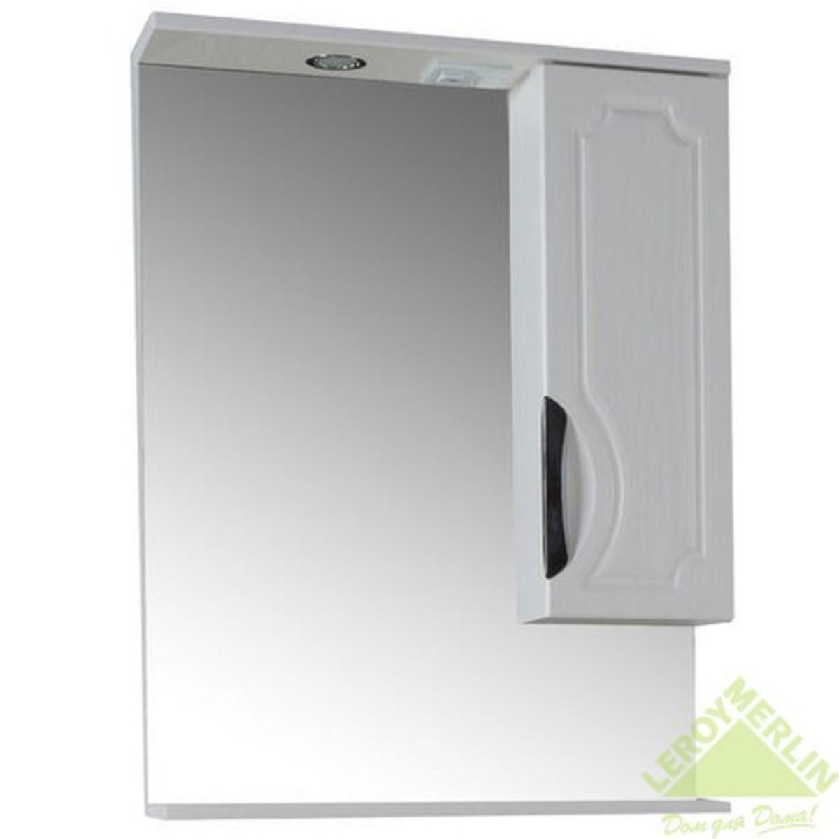 Шкаф зеркальный Санремо 65 белый
