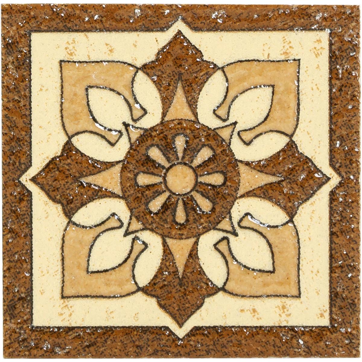 Вставка Бавария 6х6 см цвет коричневый