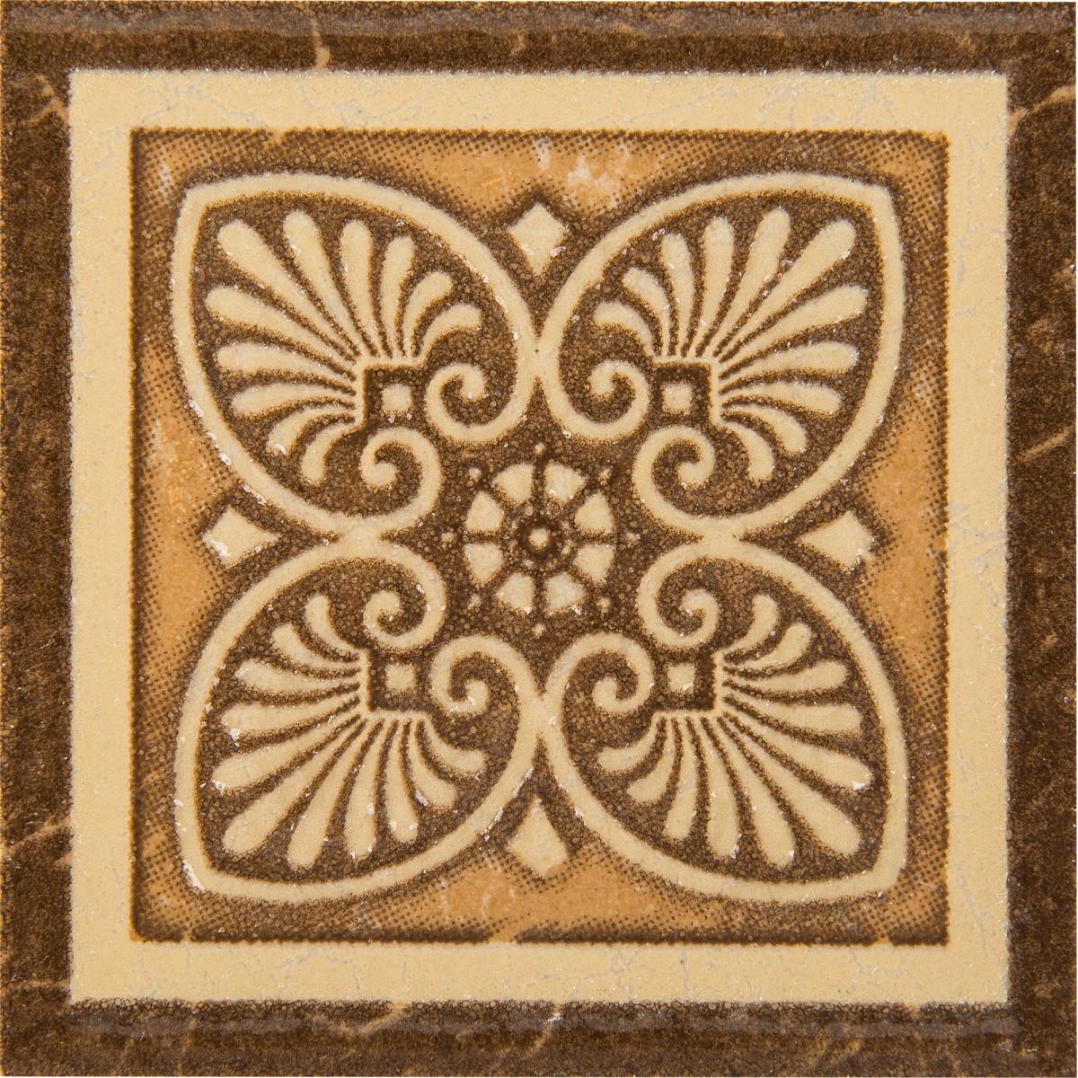 Вставка Карфаген 7х7 см цвет коричневы