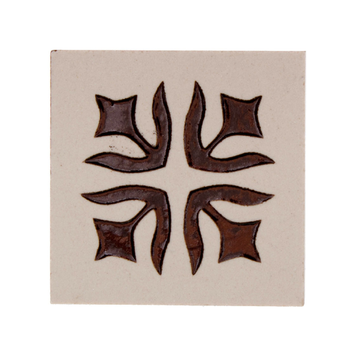 Вставка Лимож 6х6 см цвет бежевый