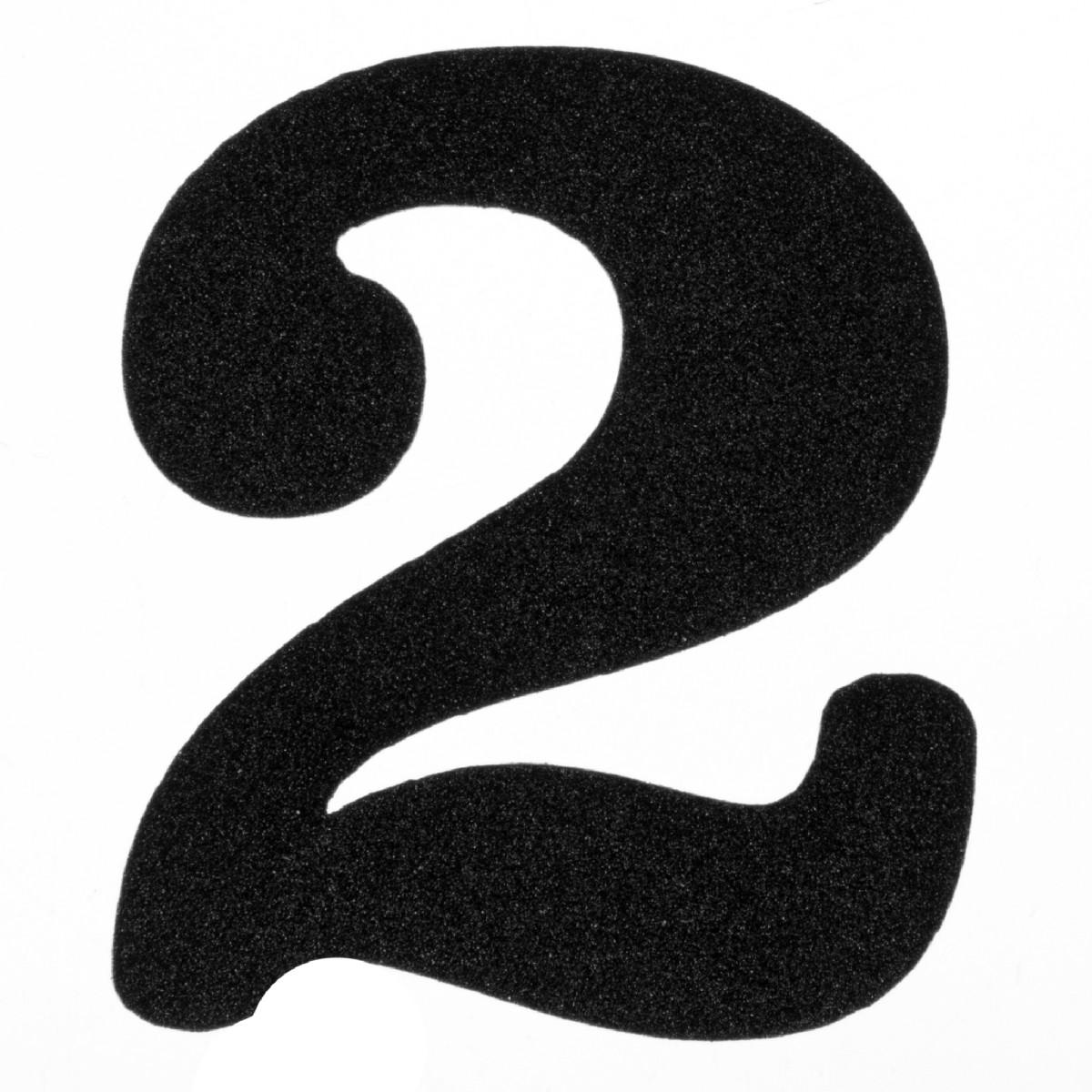 Цифра «2» DuckandDog маленькая 70х65 мм сталь цвет черный