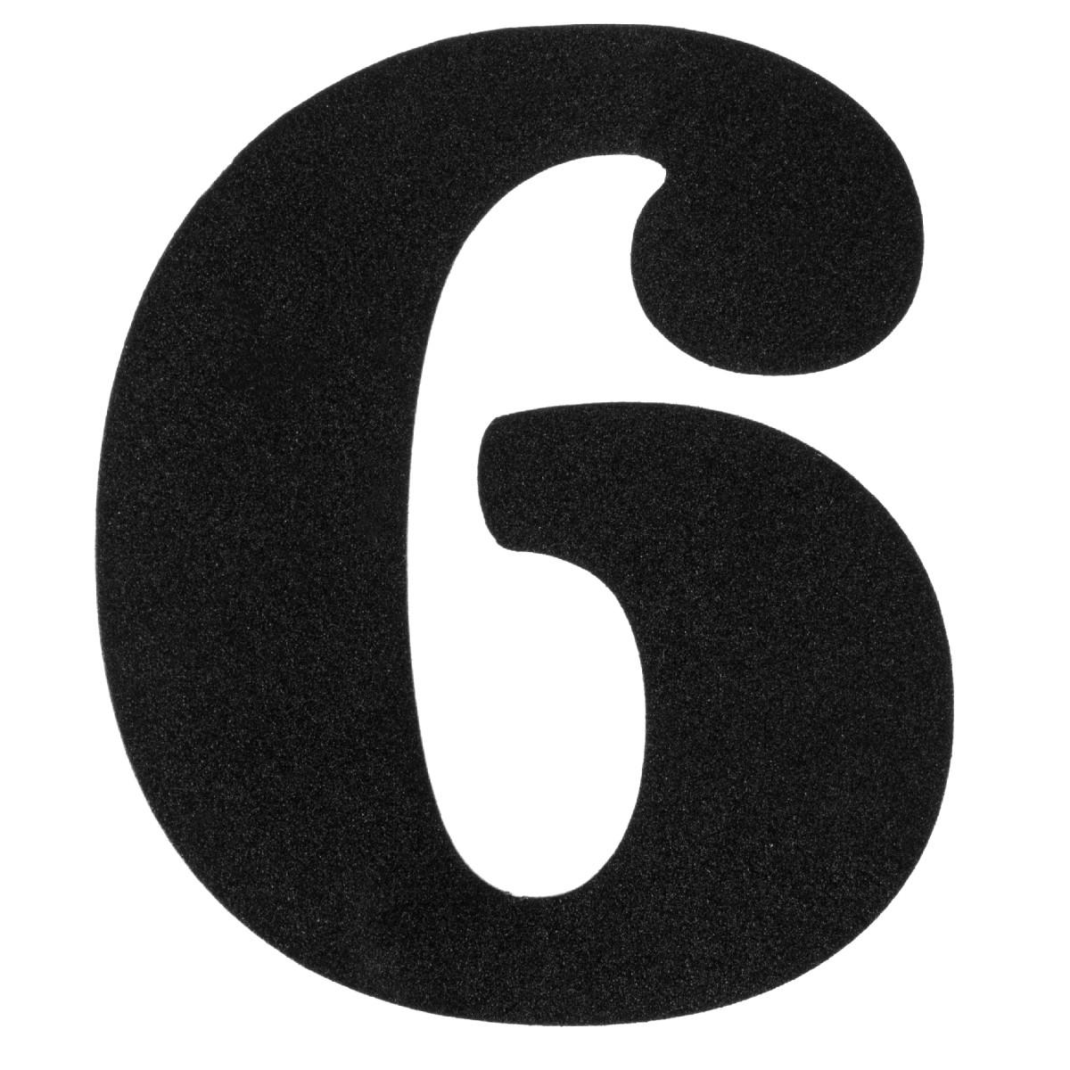 Цифра «6» DuckandDog большая 110х65 мм сталь цвет черный