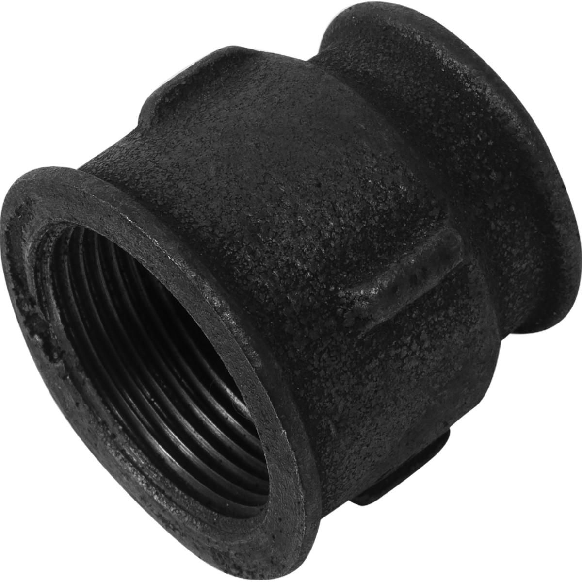 Муфта 1 1/4х1 мм ковкий чугун цвет черный