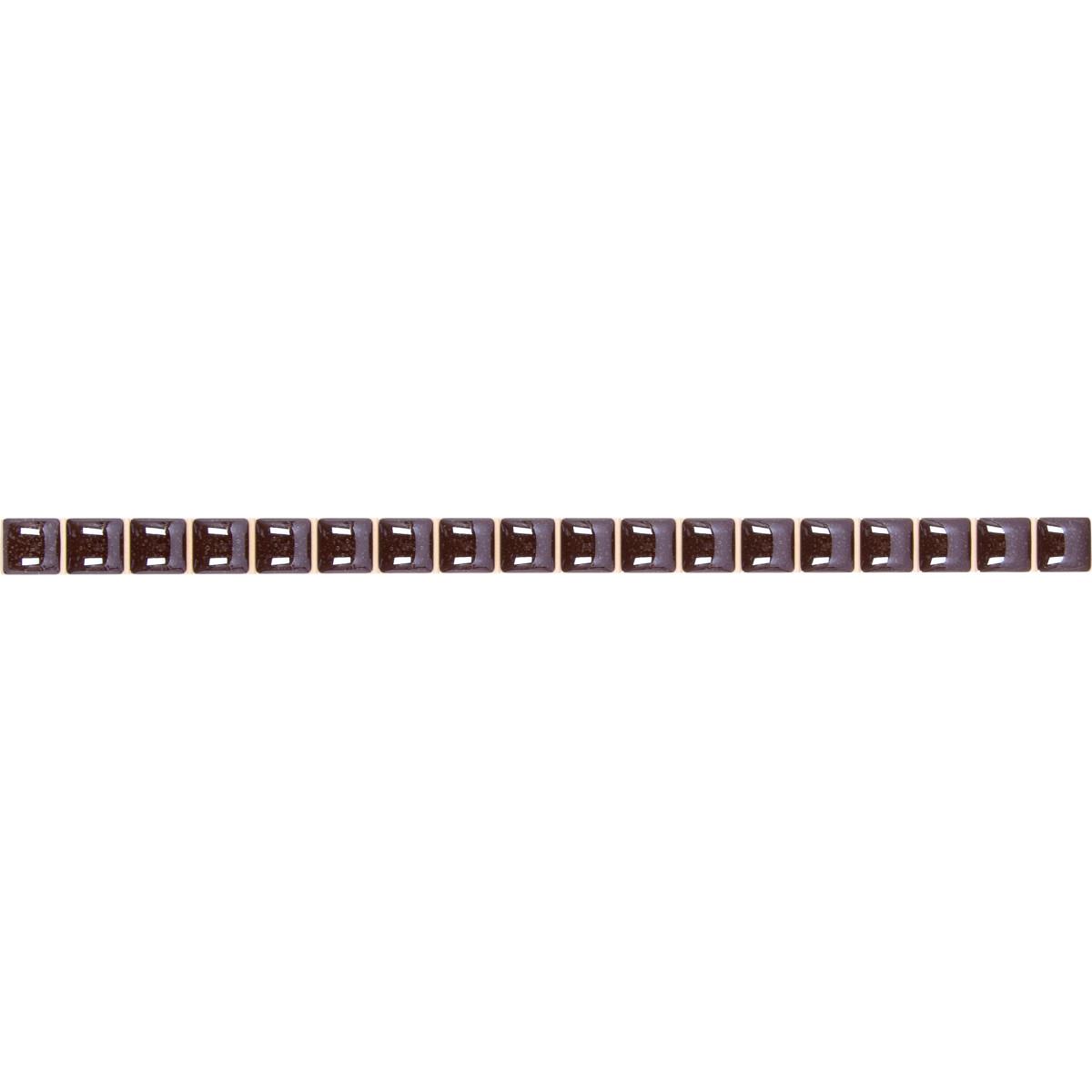 Бордюр разрезной люстрированный 13х250 мм цвет коричневый
