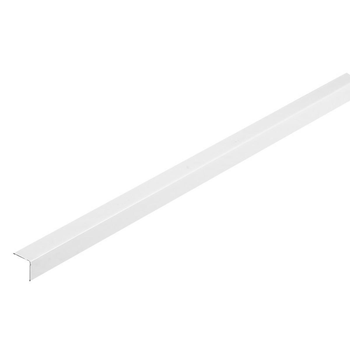 Угол периметральный алюминиевый 19x19x3000 мм цвет белый