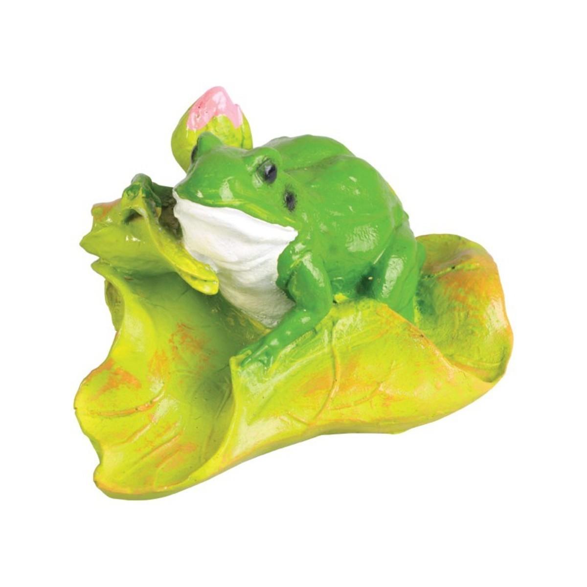 Лягушка с цветком малая 10 см
