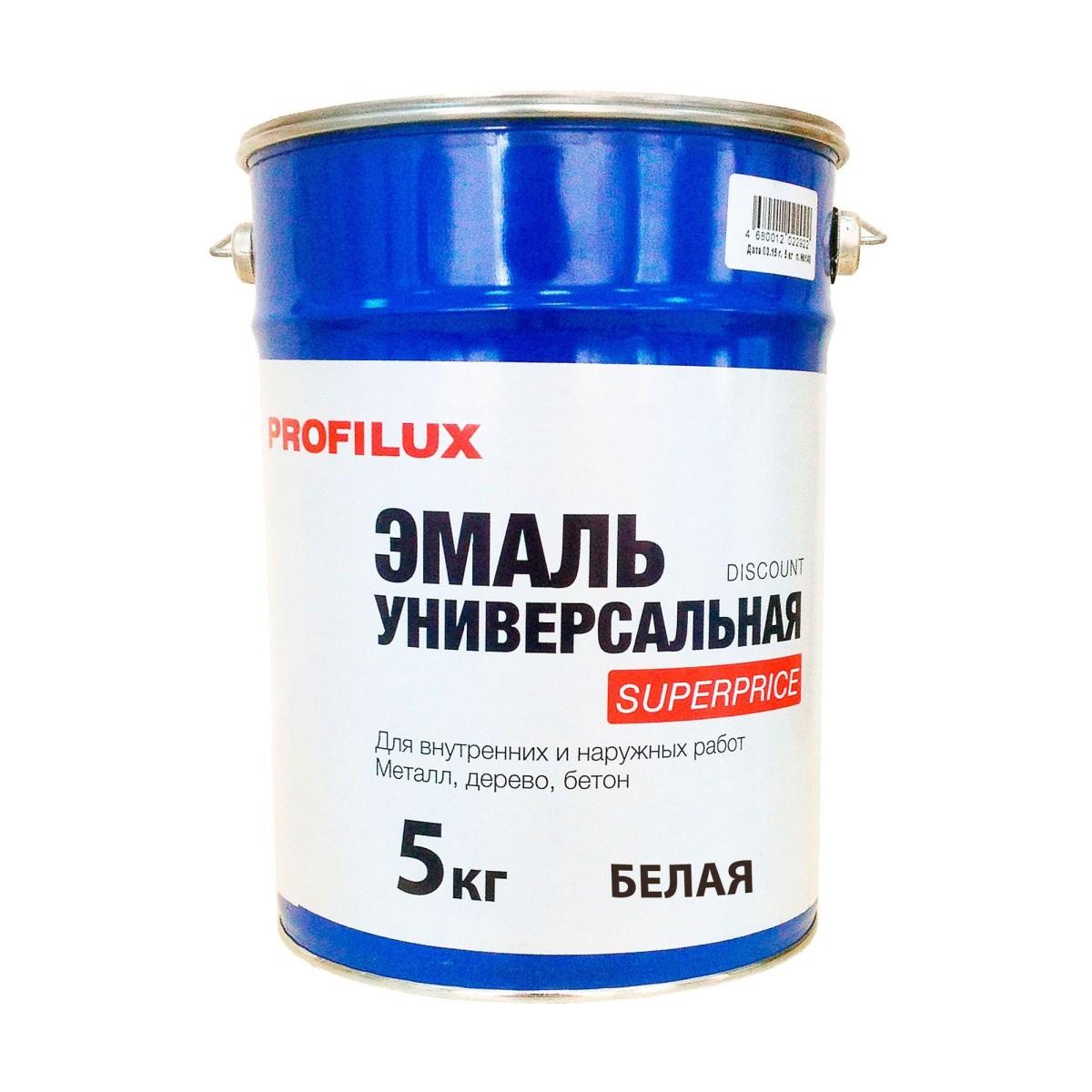 Профилюкс Эмаль Superprice цвет белый 5 кг