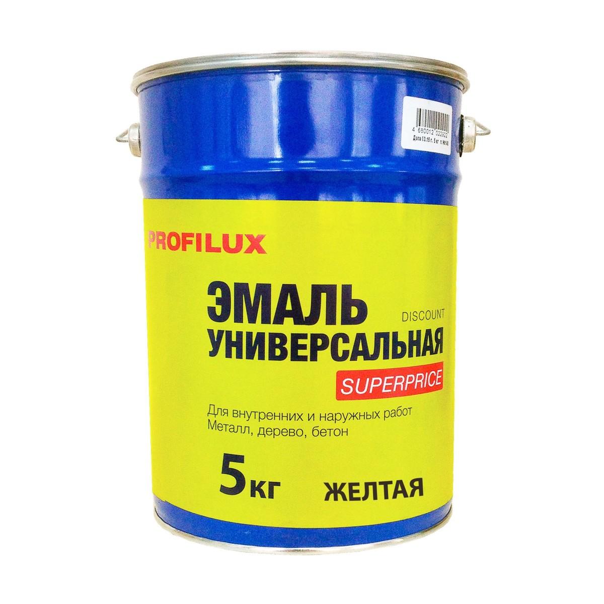 Профилюкс Эмаль Superprice цвет желтый 5 кг