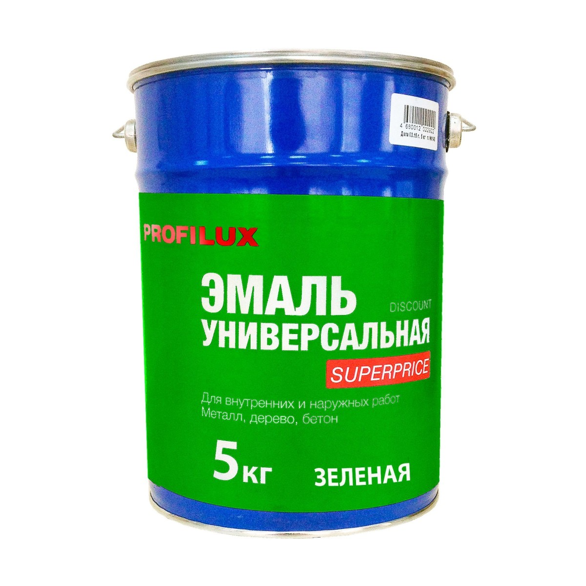 Профилюкс Эмаль Superprice цвет зеленый 5 кг