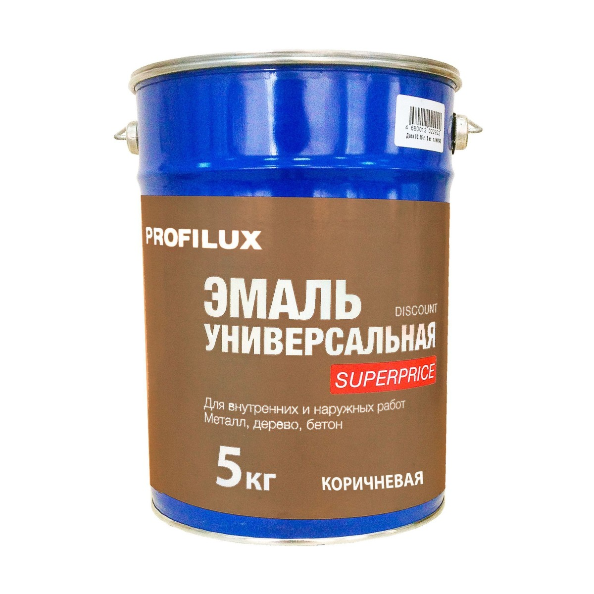 Профилюкс Эмаль Superprice цвет коричневый 5 кг