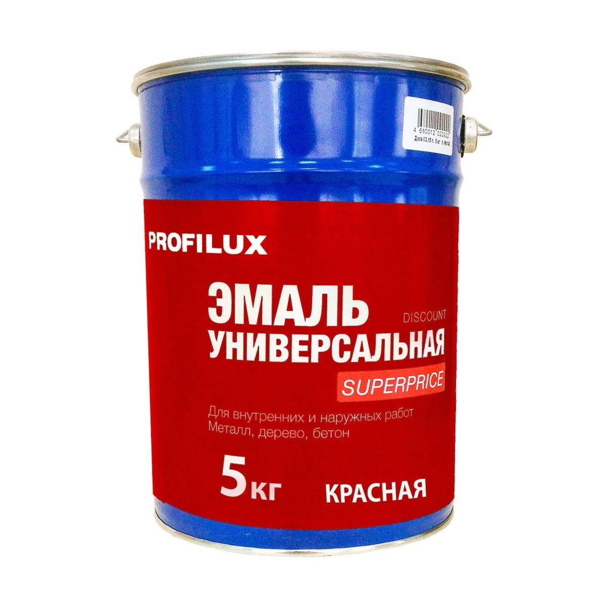 Профилюкс Эмаль Superprice цвет красный 5 кг