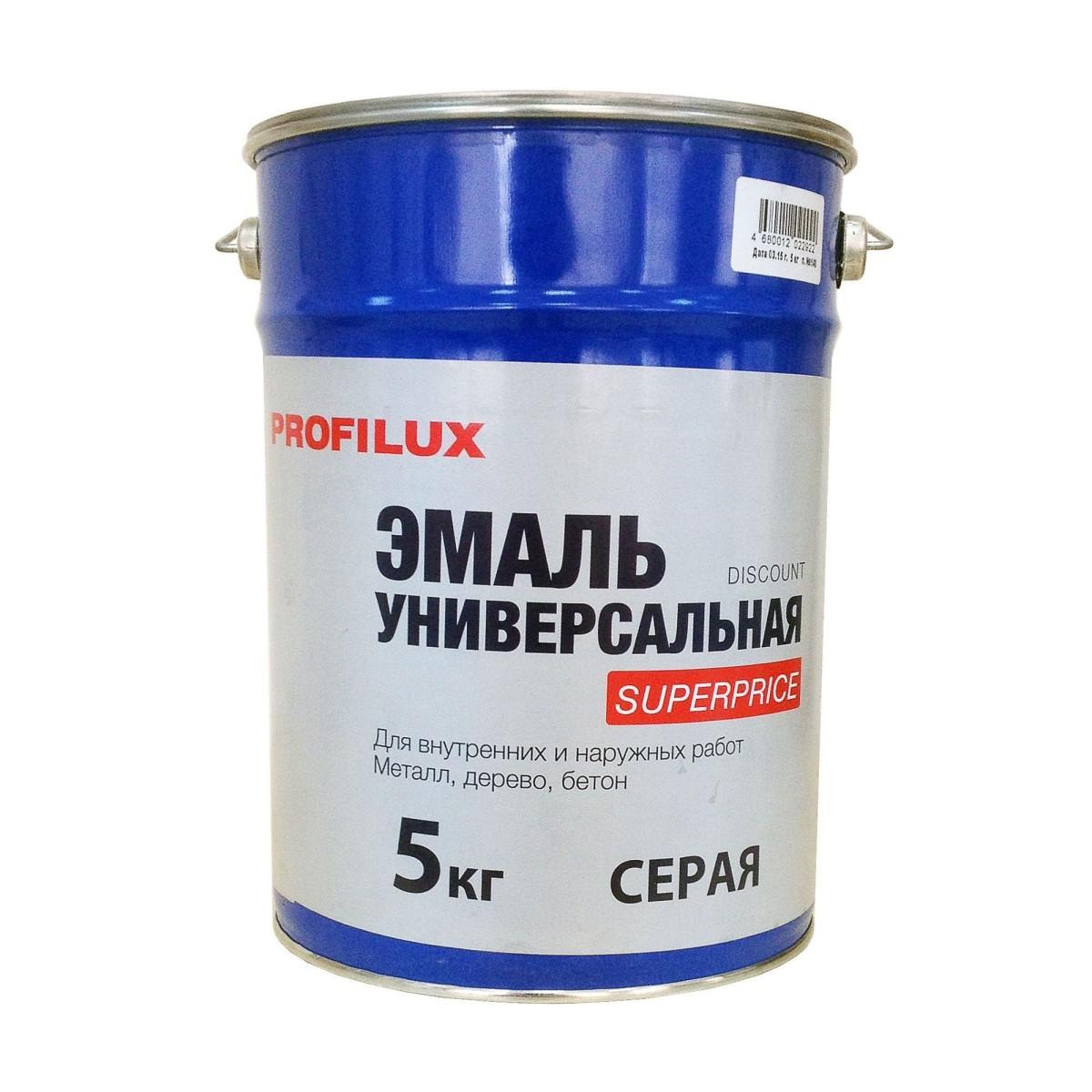 Профилюкс Эмаль Superprice цвет серый 5 кг