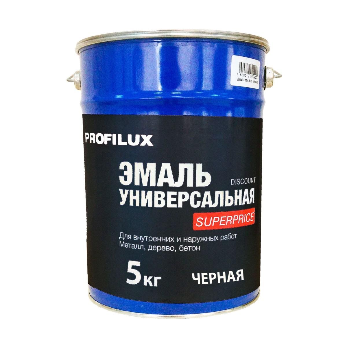 Профилюкс Эмаль Superprice цвет черный 5 кг