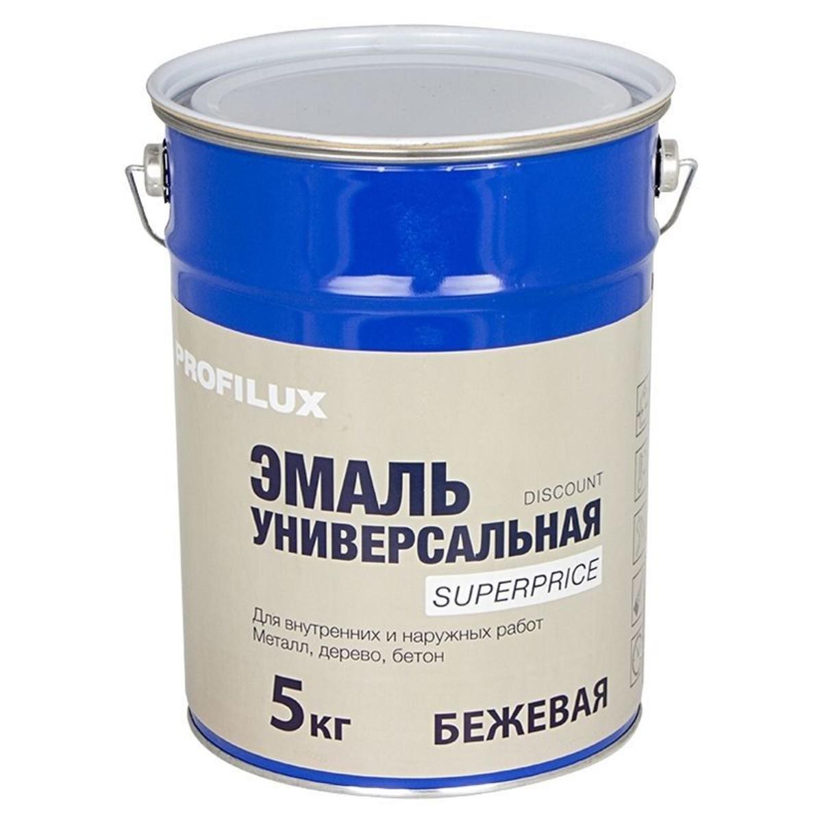 Профилюкс Эмаль Superprice 5 кг цвет бежевый