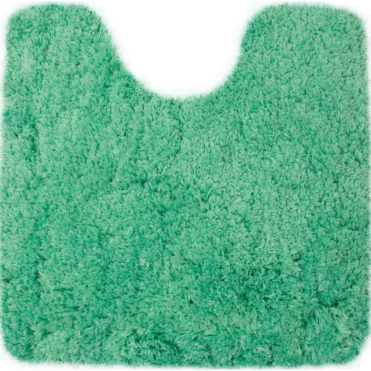 Коврик для туалета 55х55 см цвет зеленый