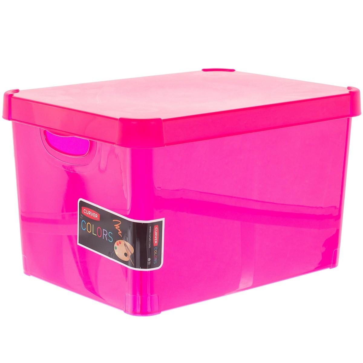 Коробка Curver Stockholm L пластик цвет розовый