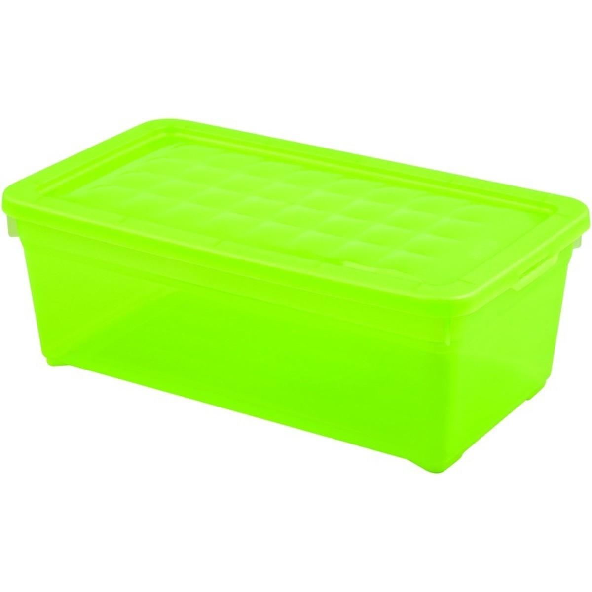 Контейнер Curver Textille прозрачный зеленый 57 л