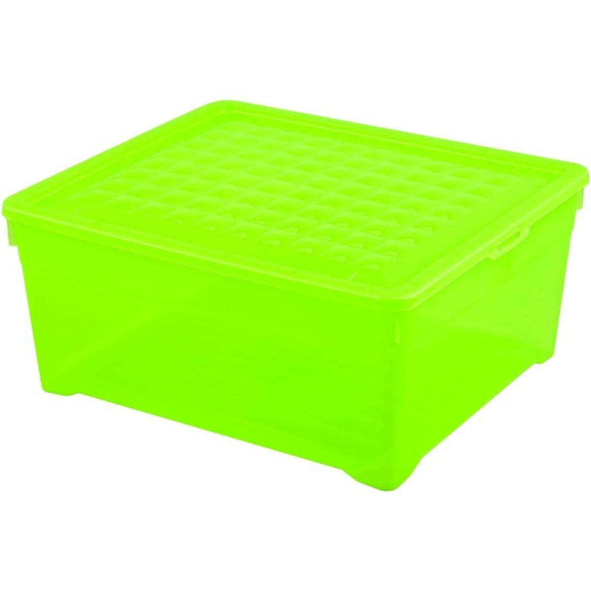 Контейнер Curver Textille прозрачный зеленый 185 л