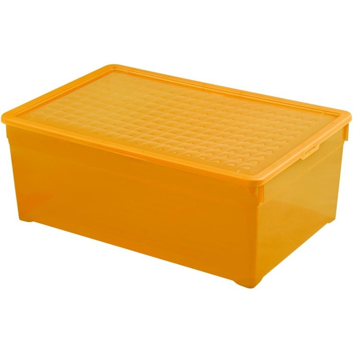 Контейнер Curver Textille прозрачный оранжевый 45 л