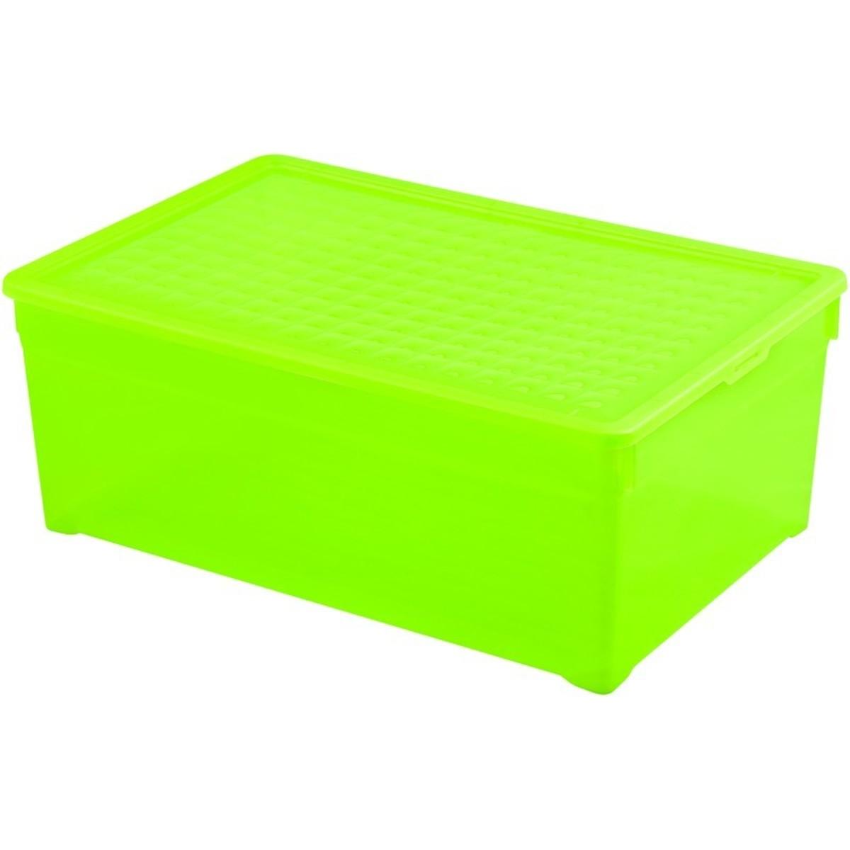 Контейнер Curver Textille прозрачный зеленый 45 л