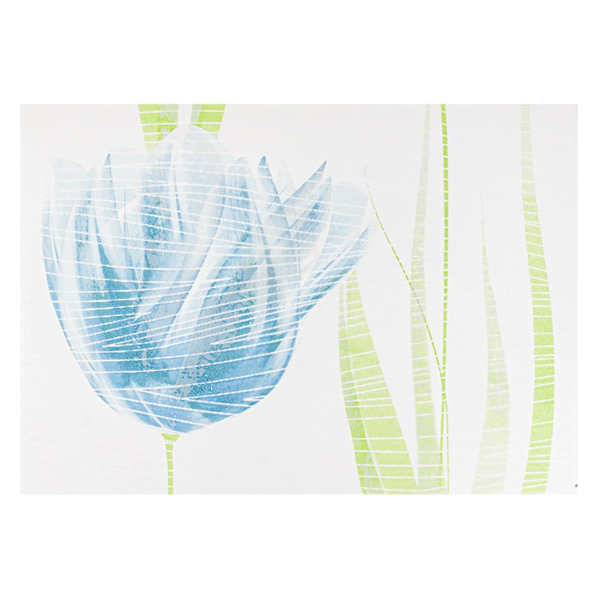 Декор Лацио тюльпан  цвет голубой 25х35 см