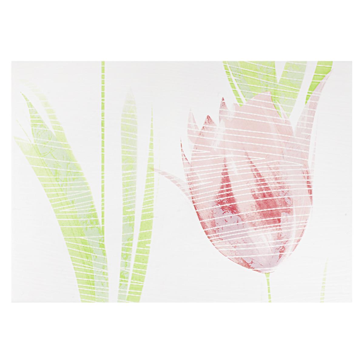 Декор Лацио тюльпан цвет розовый 25х35 см