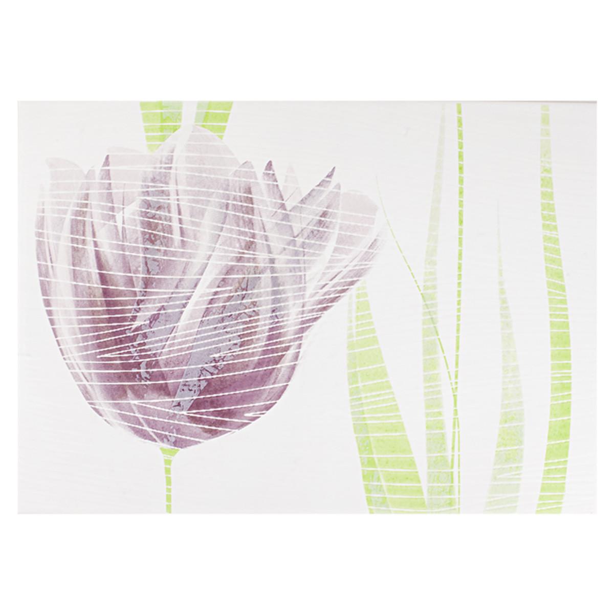 Декор Лацио тюльпан цвет фиолетовый 25х35 см