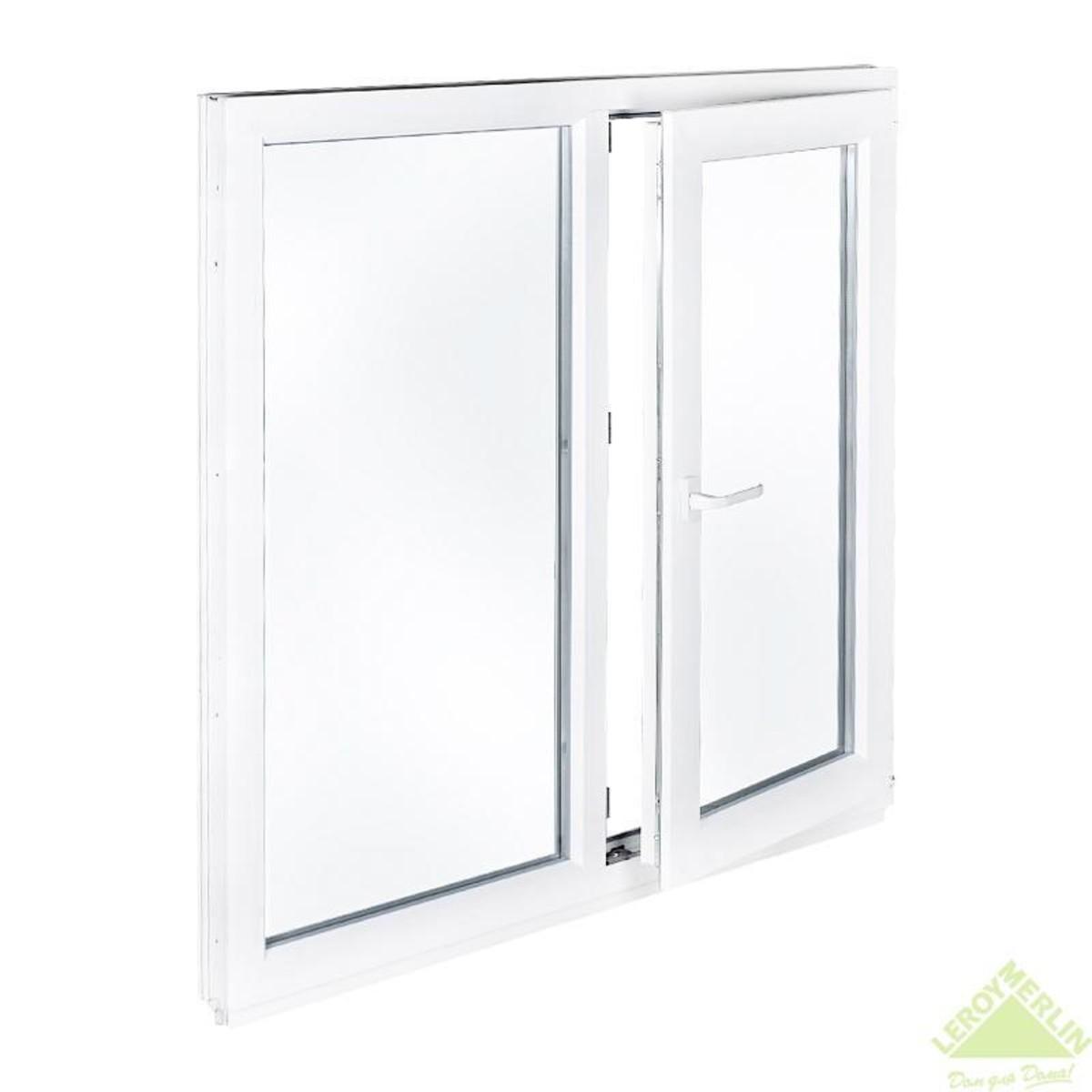 Окно ПВХ двустворчатое 116х100 см правое