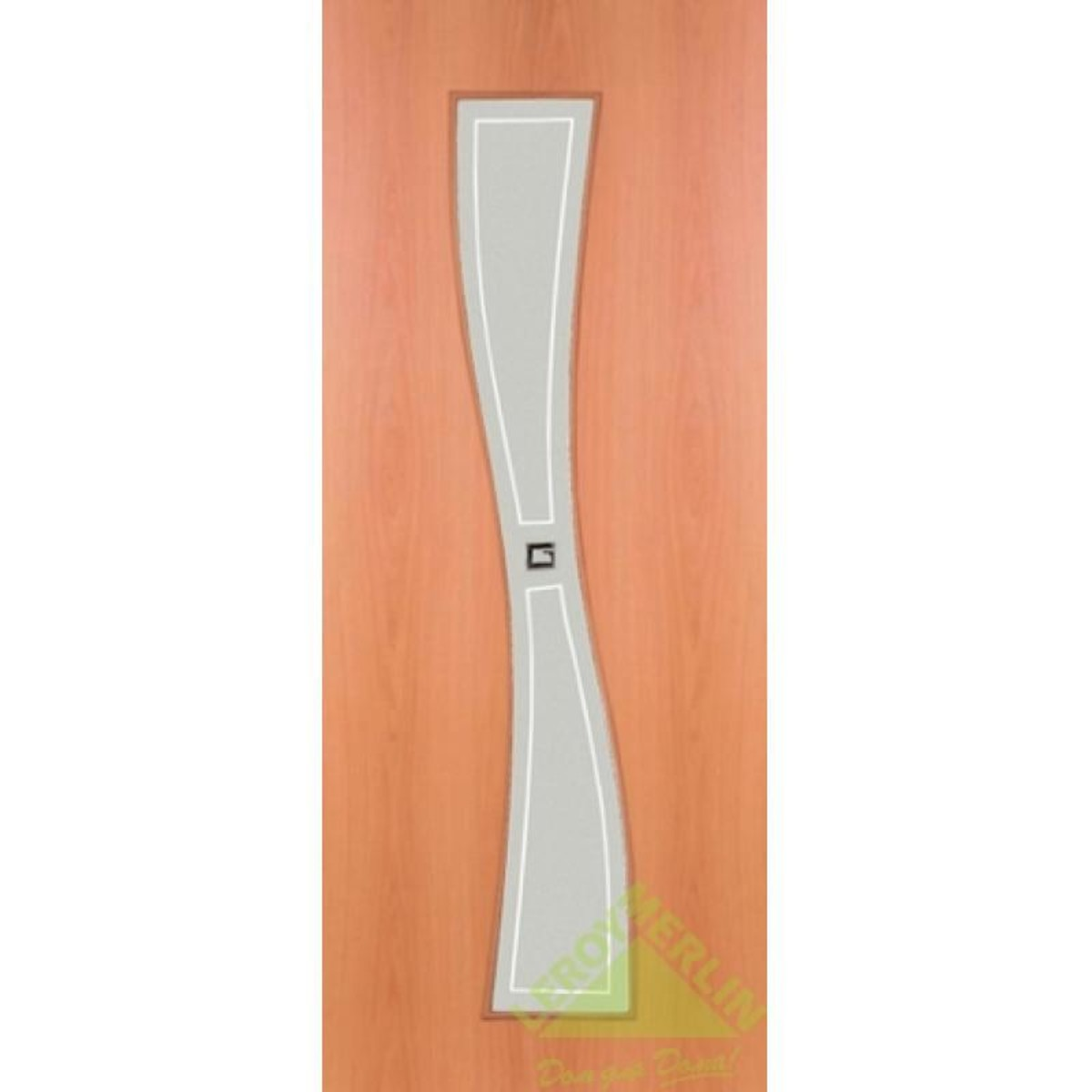 Дверь Межкомнатная Остеклённая Сезия 600x2000 Ламинация Миланский Орех