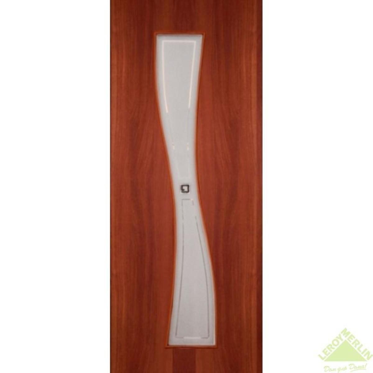 Дверь межкомнатная остеклённая Сезия 800x2000 мм ламинация итальянский орех