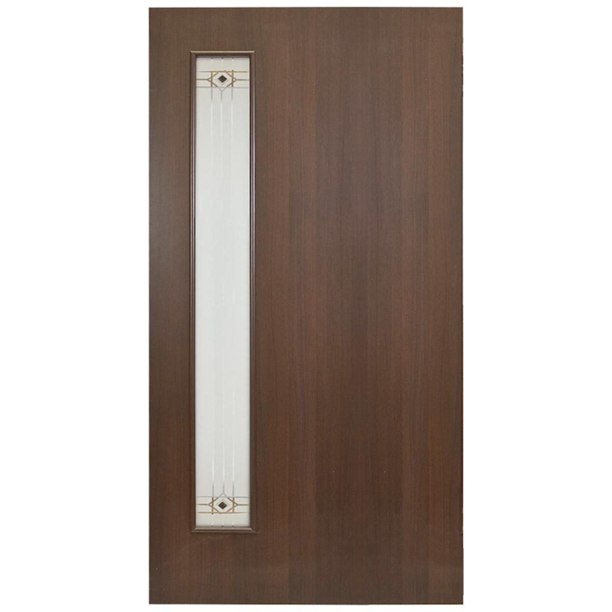 Дверь межкомнатная остеклённая Стандарт 90x200 см ламинация цвет венге